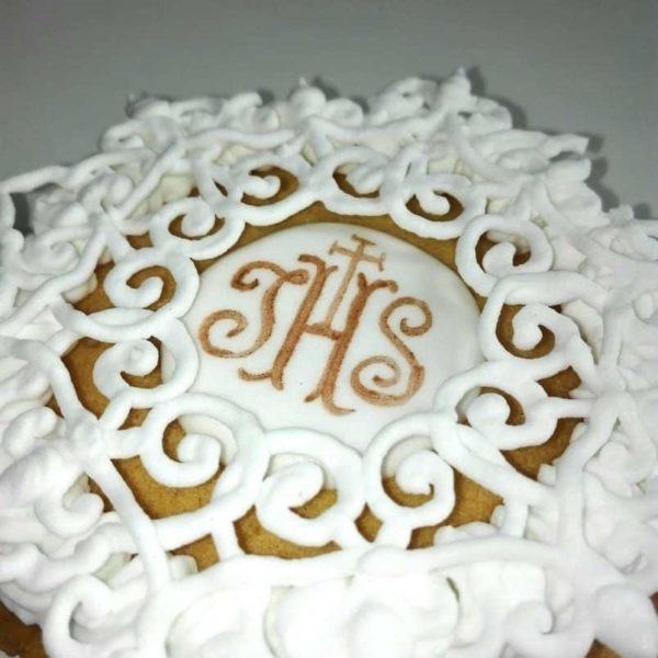Podziękowania komunijne, lukrowane ciasteczka na komunię, Basia sweets