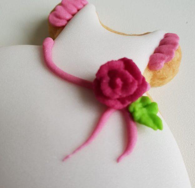 lukrowane ciasteczka na chrzest dla dziewczynki, Basia sweets