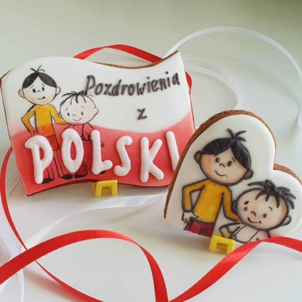 lukrowane ciasteczka na zamówienie, pierniczki Bolek i Lolek - Basia sweets