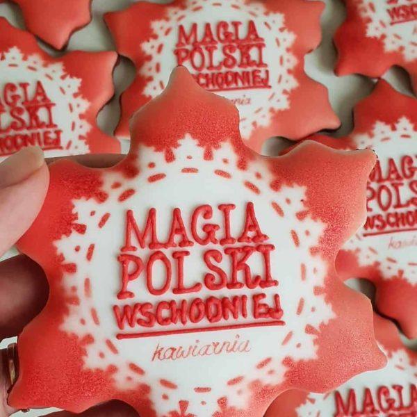 ciastka reklamowe, Lukrowane pierniczki z logo firmy, ciastka bożonarodzeniowe dla firm, Magia Polski Wschodniej - Basia sweets