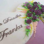 Lukrowane ciasteczka urodzinowe, dziewięćdziesiąte urodziny, 90 podziękowania dla gości - Basia sweets