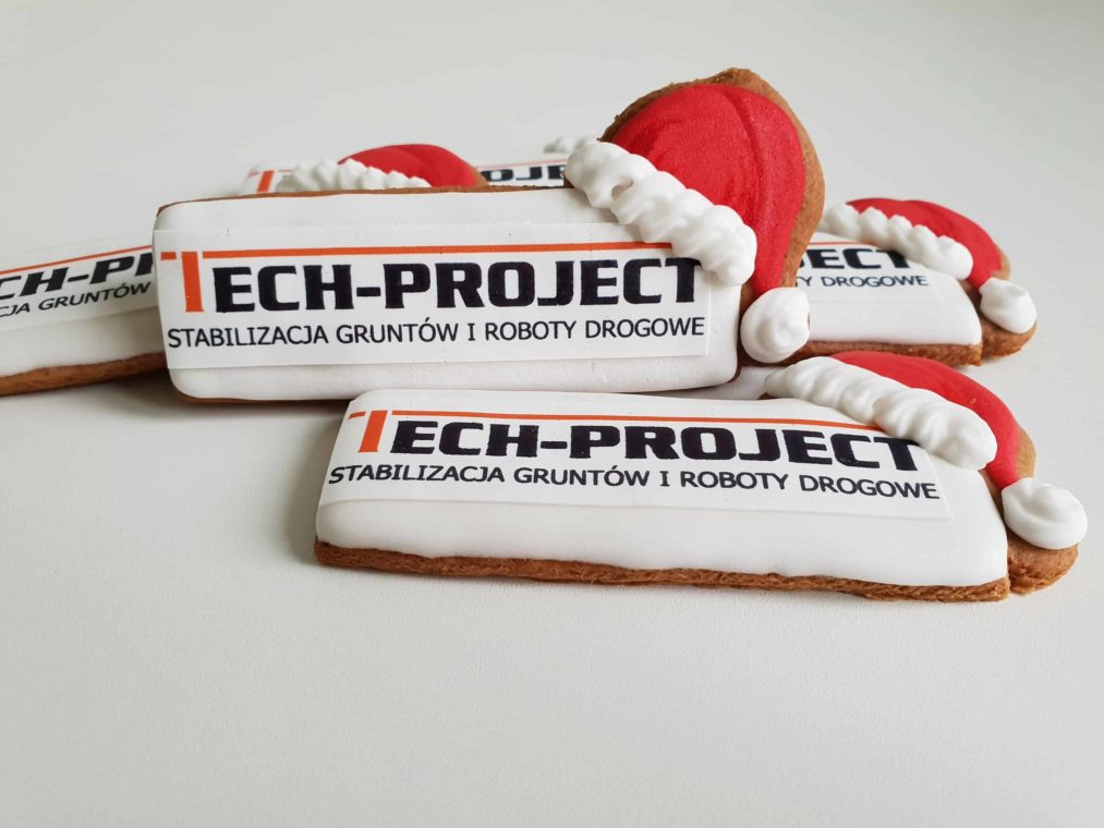 Lukrowane pierniczki z logo, pierniczki bożonarodzeniowe dla firm, pierniki dla firm - Basia sweets