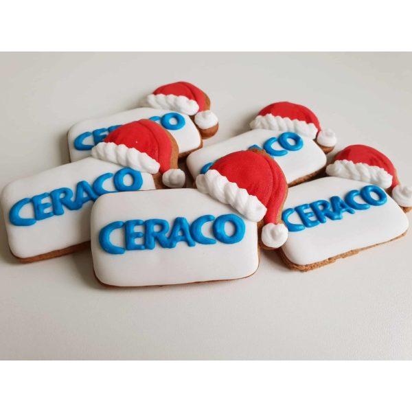 ciastka reklamowe, Lukrowane pierniczki z logo, pierniczki bożonarodzeniowe dla firm, pierniki dla firm - Basia sweets