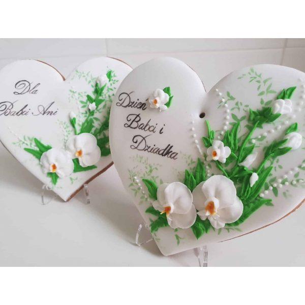 Serce z piernika - Dzień Babci i Dziadka, Pierniczki Dzień Babci i Dziadka, lukrowane ciasteczka, pierniczki okazjonalne - Basia sweets