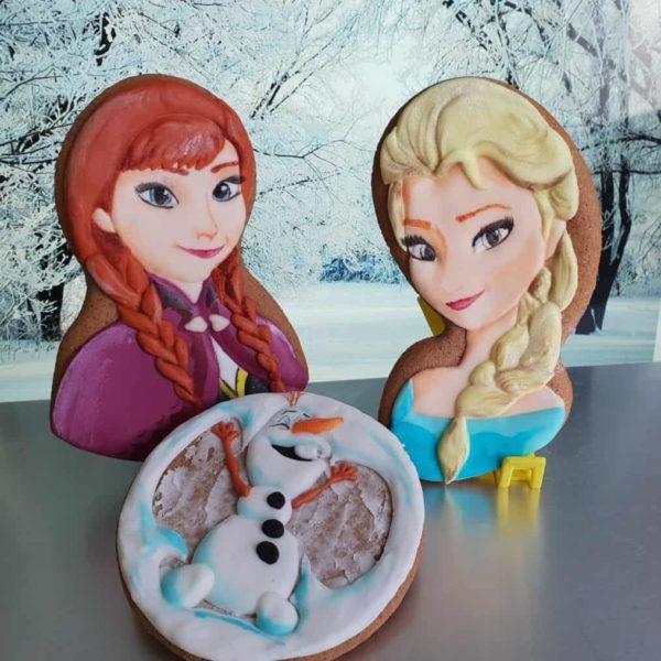 Pierniczki, Lukrowane ciasteczka Urodzinowe, Frozen, Elsa i Anna, Olafek, lukrowane pierniczki urodzinowe - Basia sweets