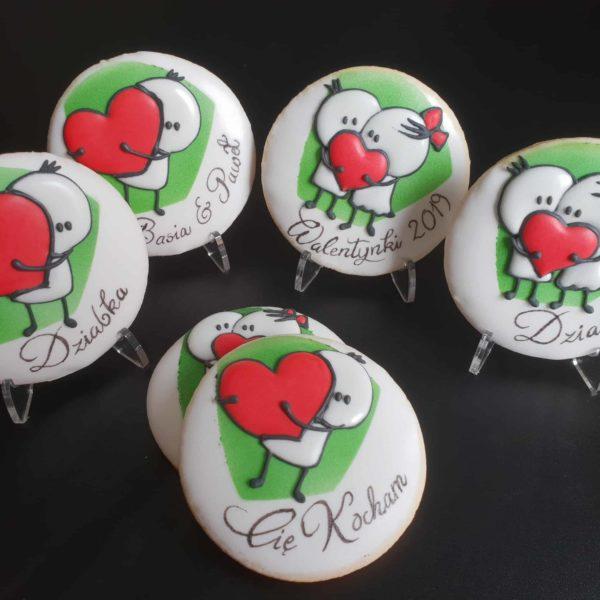podziękowania ślubne, Lukrowane ciasteczka walentynki, walentynki, Basia sweets