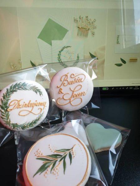 podziękowania ślubne, lukrowane ciasteczka ślubne, personalizowane ciastka wg. zaproszenia, Basia sweets