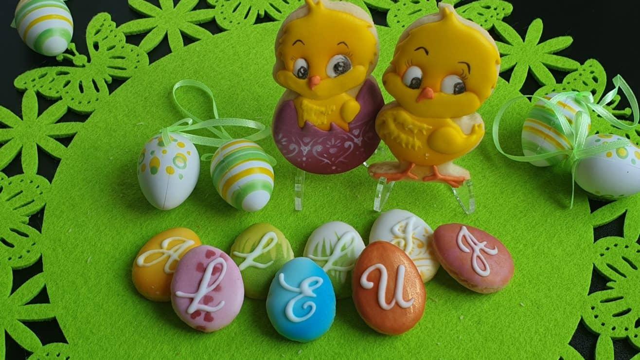 Ciasteczka Wielkanocne, kurczaczki, alleluja Wielkanoc, lukrowane ciasteczka Basia sweets