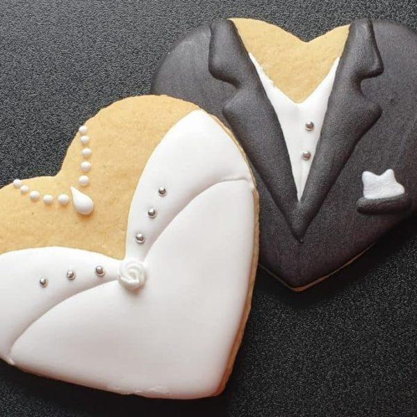 Podziękowania ślubne, podziękowania dla gości, ciasteczka ślubne, lukrowane ciasteczka Basia sweets