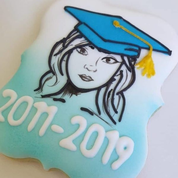 Koniec roku szkolnego, upominki dla uczniów, ciasteczka dla absolwentów, lukrowane ciasteczka - Basia sweets