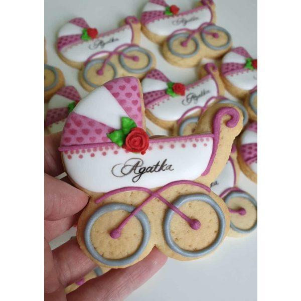 ciasteczka na chrzest - wózeczek, podziękowania dla gości na chrzest, podziękowania na chrzest, podziękowania chrzest, lukrowane ciasteczka Basia sweets
