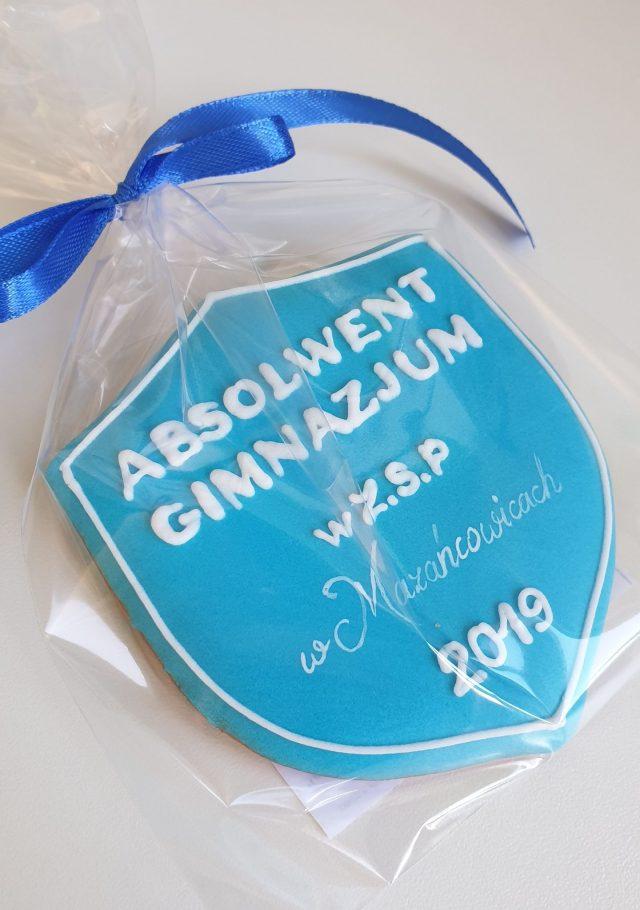 Absolwent gimnazjum, Ciasteczka dla ucznia, Koniec roku szkolnego Lukrowane ciasteczka Basia sweets