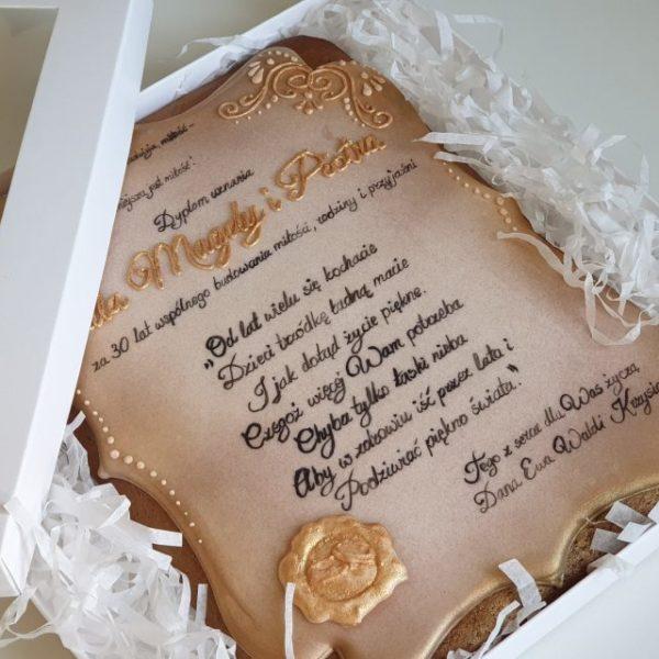 piernik lukrowany, dyplom z piernika, Lukrowane pierniczki, piernik z dedykacją, pierniki dekoracyjne, pierniki reklamowe, ręcznie dekorowane pierniki, lukrowane pierniczki, pierniki ozdobne, pierniczki personalizowane - Basia sweets