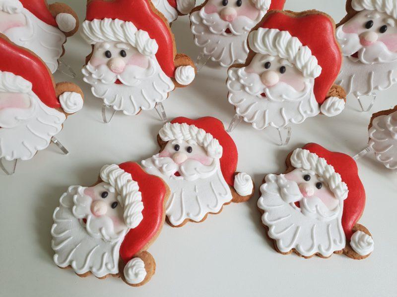 pierniki bożonarodzeniowe, pierniki reklamowe, piernik Mikołaj, lukrowane pierniczki Basia sweets