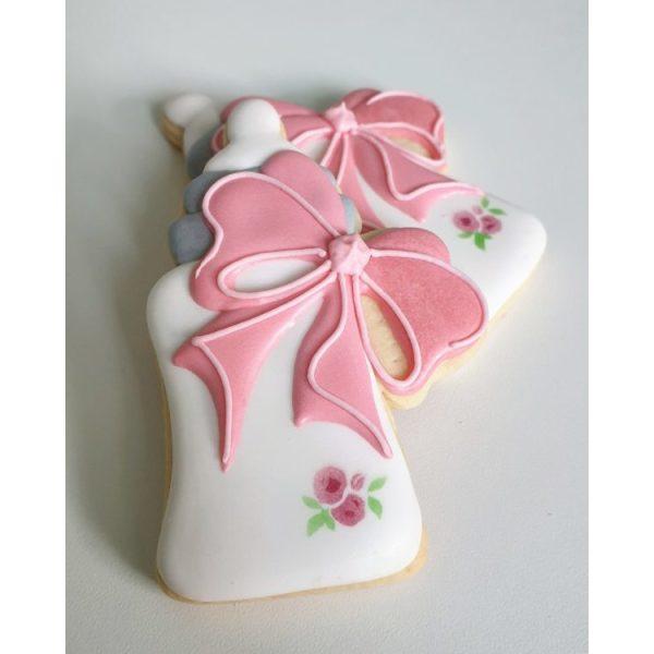 ciasteczka na chrzest - buteleczka, podziękowania dla gości na chrzest, podziękowania na chrzest, podziękowania chrzest, lukrowane ciasteczka Basia sweets