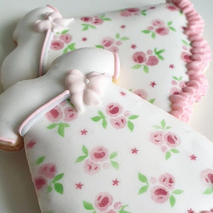 ciasteczka na chrzest - sukieneczka, podziękowania dla gości na chrzest, podziękowania na chrzest, podziękowania chrzest, lukrowane ciasteczka Basia sweets