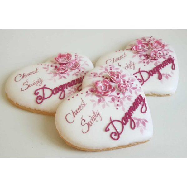 ciasteczka na chrzest - serduszka, podziękowania dla gości na chrzest, podziękowania na chrzest, podziękowania chrzest, lukrowane ciasteczka Basia sweets