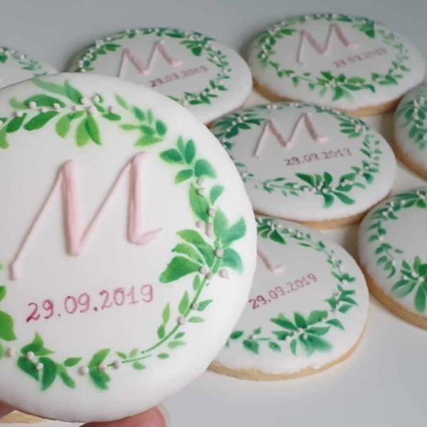 Lukrowane ciasteczka, ciastka reklamowe, ciasteczka z logo, ręcznie dekorowane ciasteczka Basia sweets