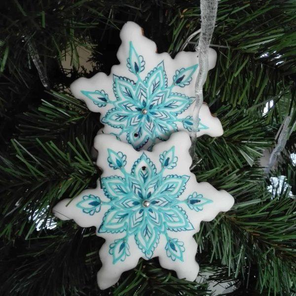 pierniki dekoracyjne, pierniki bożonarodzeniowe, lukrowane pierniki na choinkę