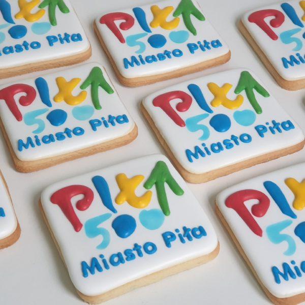 Miasto Piła, ciastka reklamowe, ciastka promocyjne, podziękowania dla gości, lukrowane ciasteczka Basia sweets