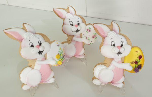 Ciasteczka Wielkanocne - Zając z pisanką, Króliczek wielkanocny, ciasteczka wielkanocne, dekoracje wielkanocne, lukrowane ciasteczka Basia sweets