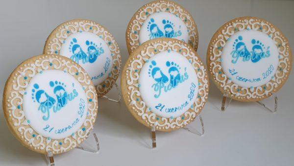 Ciasteczka na Chrzest - z koronką, podziękowania dla gości na chrzest, ciastka na chrzest
