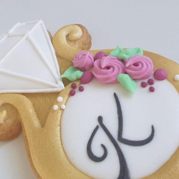ciasteczka na wieczór panieński, ciastka pierścionki zaręczynowe, podziękowania na panieński, lukrowane ciasteczka Basia sweets