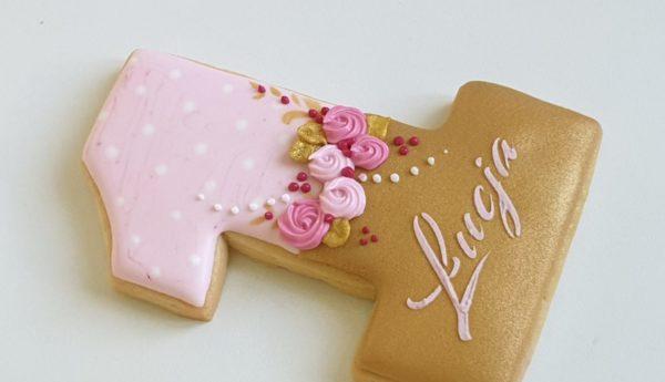 Ciasteczka urodzinowe - Jedynka, ciasteczka urodzinowe, ciasteczka na roczek, ciastko jedynka, podziękowania na roczek, pierniczki na roczek, lukrowane pierniczki Basia sweets
