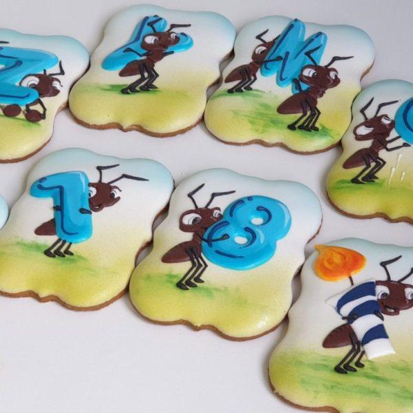 ciasteczka urodzinowe, ciasteczka na 18, 18 urodziny podziękowania - Basia sweets