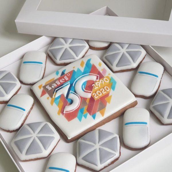 pierniki reklamowe, ręcznie dekorowane pierniki z logo, zestaw firmowy pierniczkowy, pierniki firmowe, lukrowane pierniczki, pierniki ozdobne, pierniczki personalizowane - Basia sweets