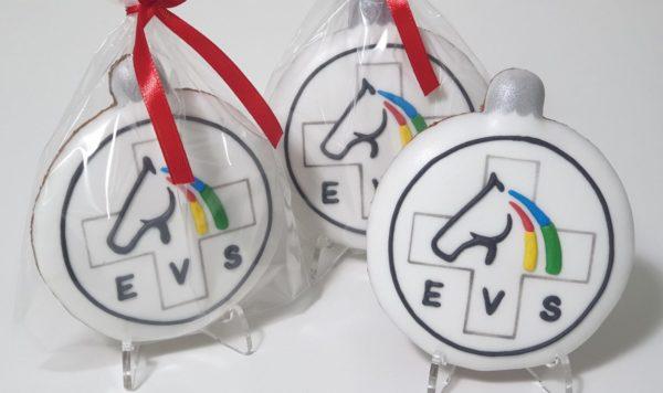 Pierniki reklamowe - Bombka z logo - pierniczki ręcznie dekorowane, pierniczki z logo, świąteczne pierniki reklamowe - Basia sweets