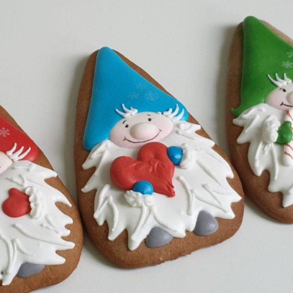 pierniki bożonarodzeniowe, lukrowane pierniczki, pierniki krasnale, świąteczne pierniki, pierniki ozdobne, ręcznie dekorowane, pierniczki personalizowane - Basia sweets