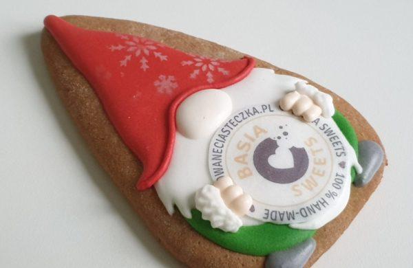 pierniki reklamowe, ręcznie dekorowane pierniki, lukrowane pierniczki, krasnal z logo, świąteczne pierniki, pierniki ozdobne, pierniczki personalizowane - Basia sweets