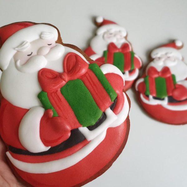 pierniki bożonarodzeniowe, lukrowane pierniczki, piernik Mikołaj, świąteczne pierniki, pierniki ozdobne, ręcznie dekorowane, pierniczki personalizowane - Basia sweets