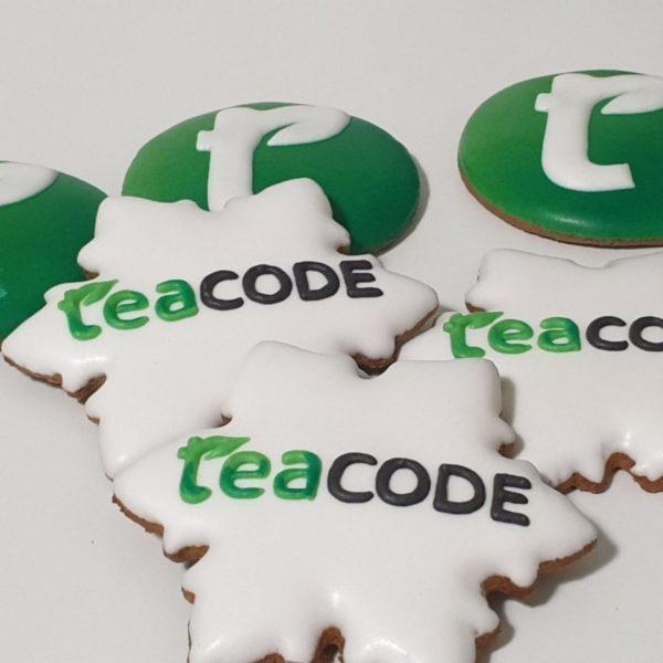 pierniki reklamowe, śnieżynka z logo, pierniki bożonarodzeniowe, ręcznie dekorowane pierniki, lukrowane pierniczki, pierniki z logo, pierniczki personalizowane - Basia sweets