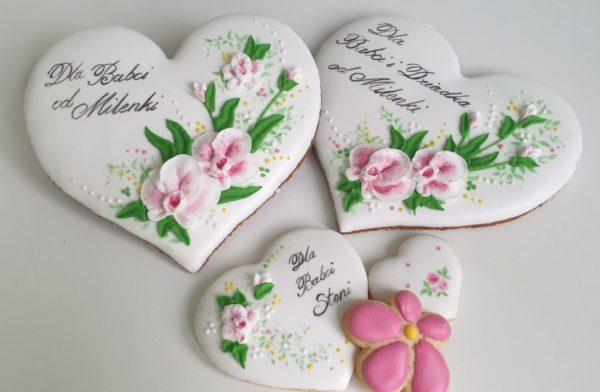 Serce z piernika - Dzień Babci i Dziadka,Lukrowane pierniki, Dzień Babci i Dziadka, pierniki dla babci, serce dla babci, lukrowane ciasteczka, personalizowane pierniki - Basia sweets