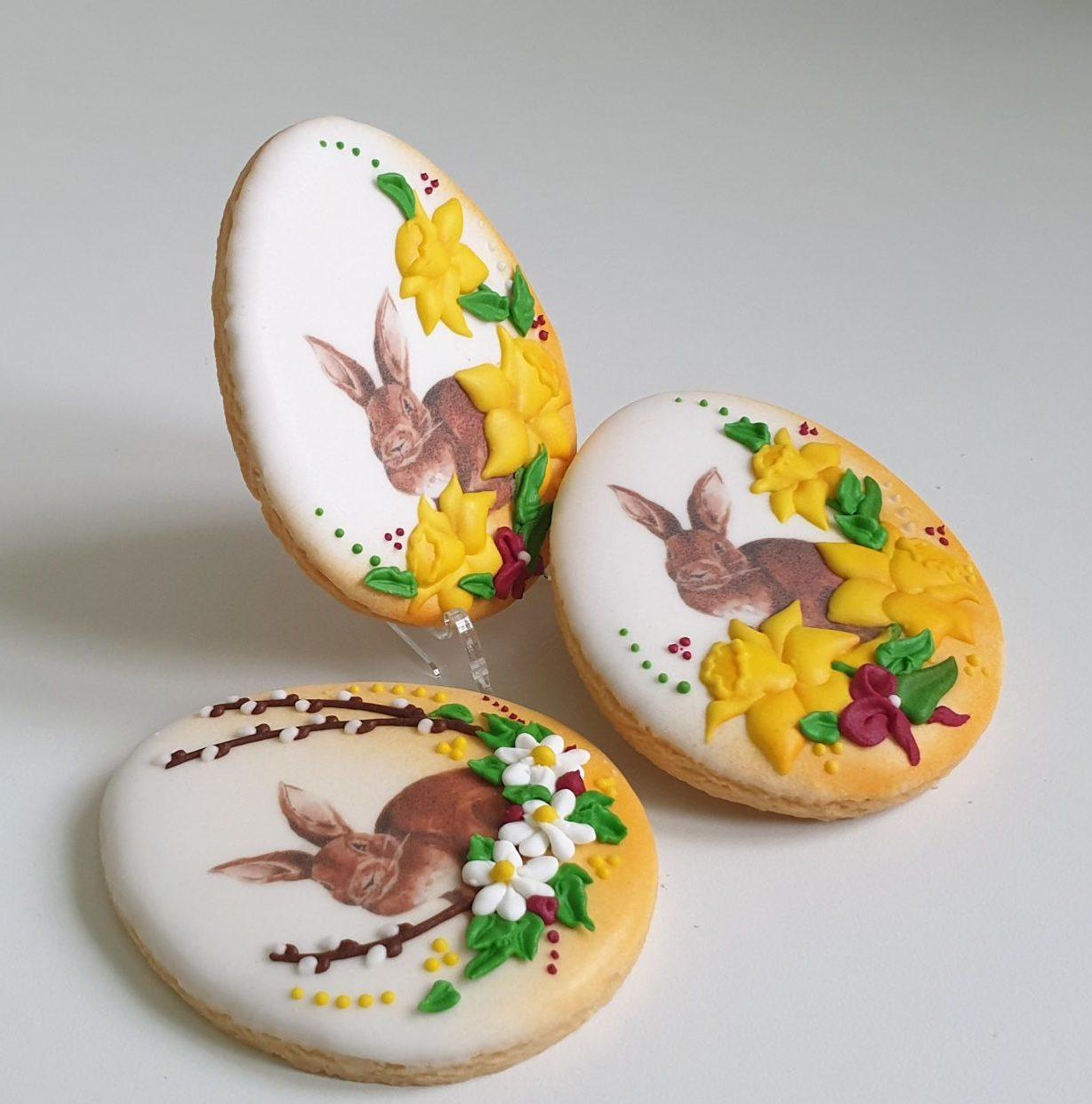 Ciasteczka Wielkanocne - pisanka, Króliczek wielkanocny, ciasteczka wielkanocne, dekoracje wielkanocne, lukrowane ciasteczka Basia sweets