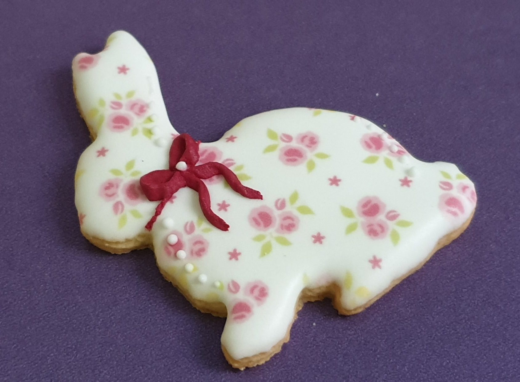 Ciasteczka Wielkanocne - zajączek, Króliczek wielkanocny, ciasteczka wielkanocne, dekoracje wielkanocne, lukrowane ciasteczka Basia sweets